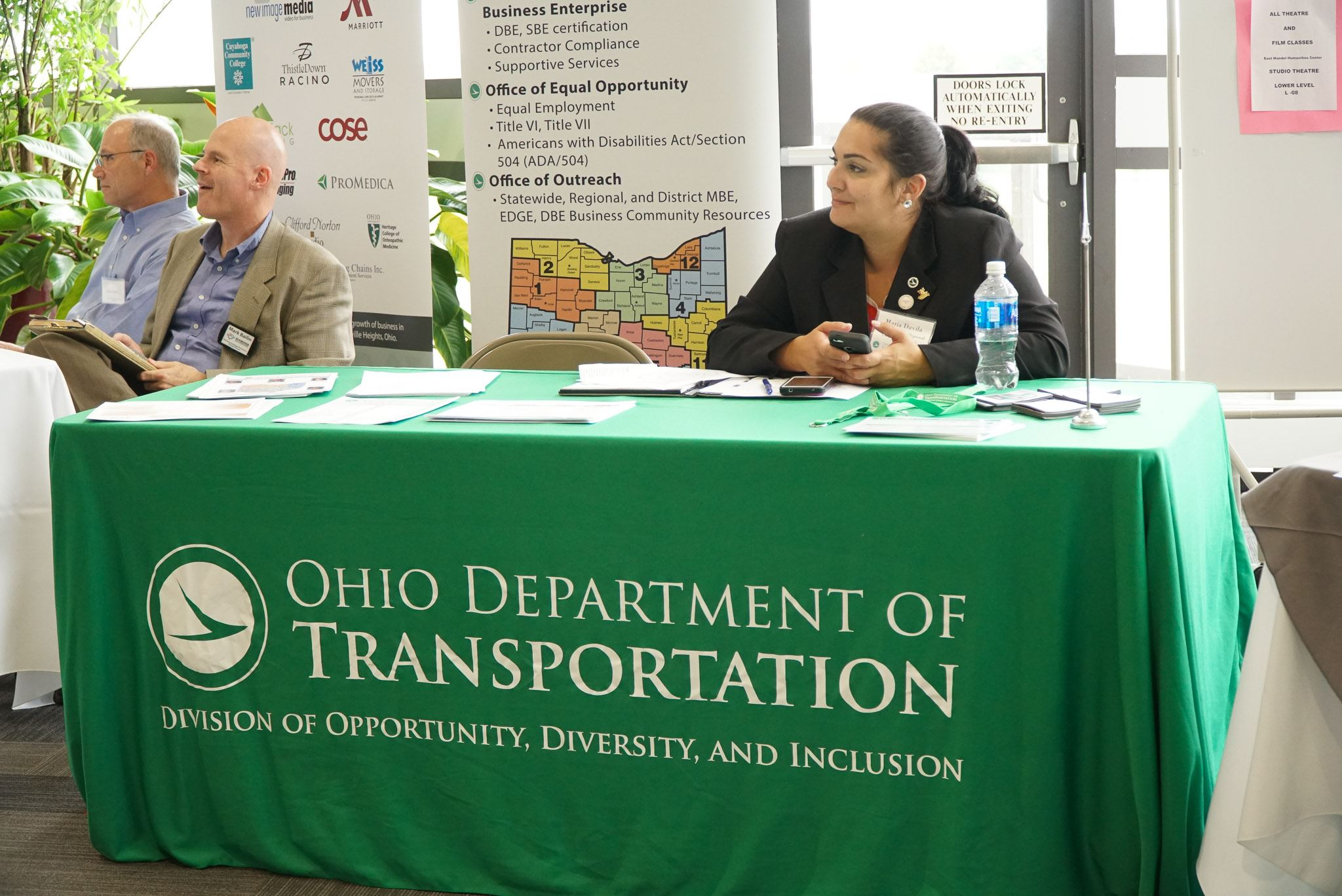 Ohio Department of Transportation table set up at an event