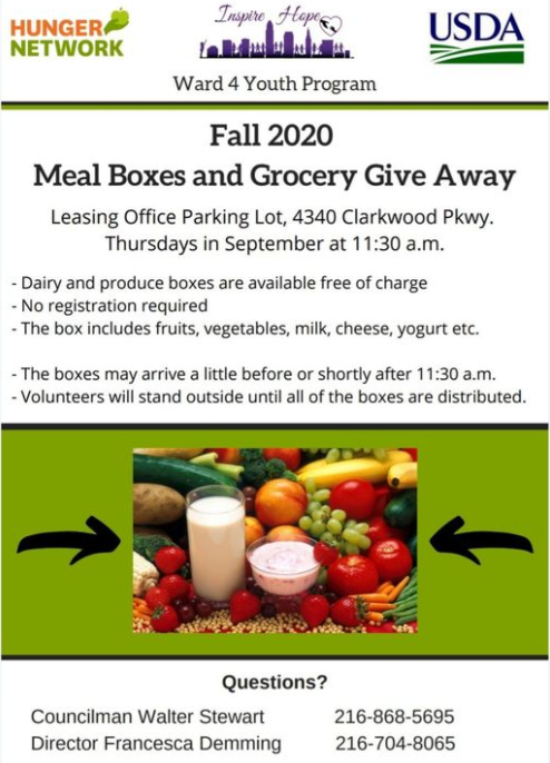 Ward 4 Food Give Away 9-1-2020