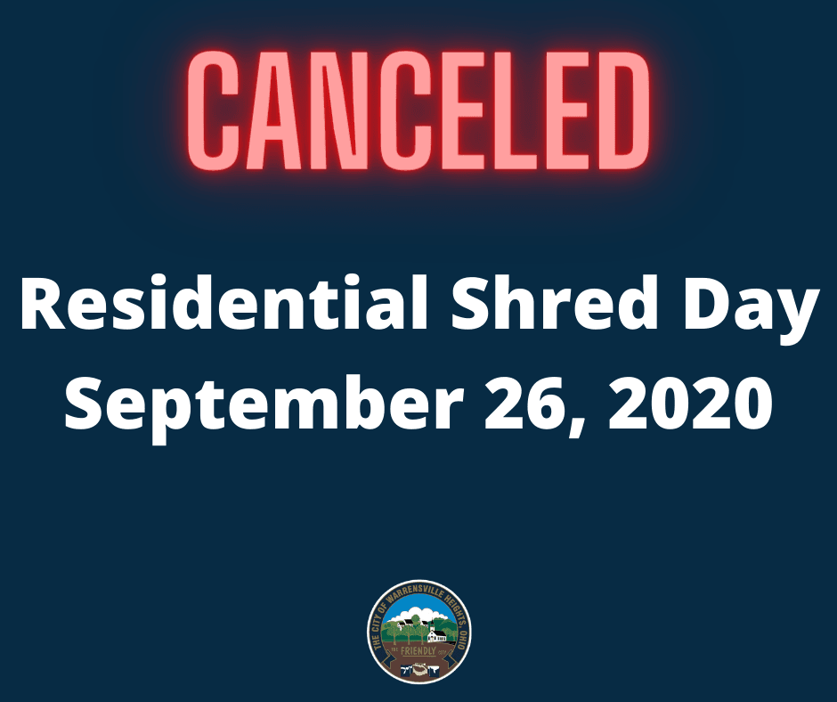 shred day cancellation