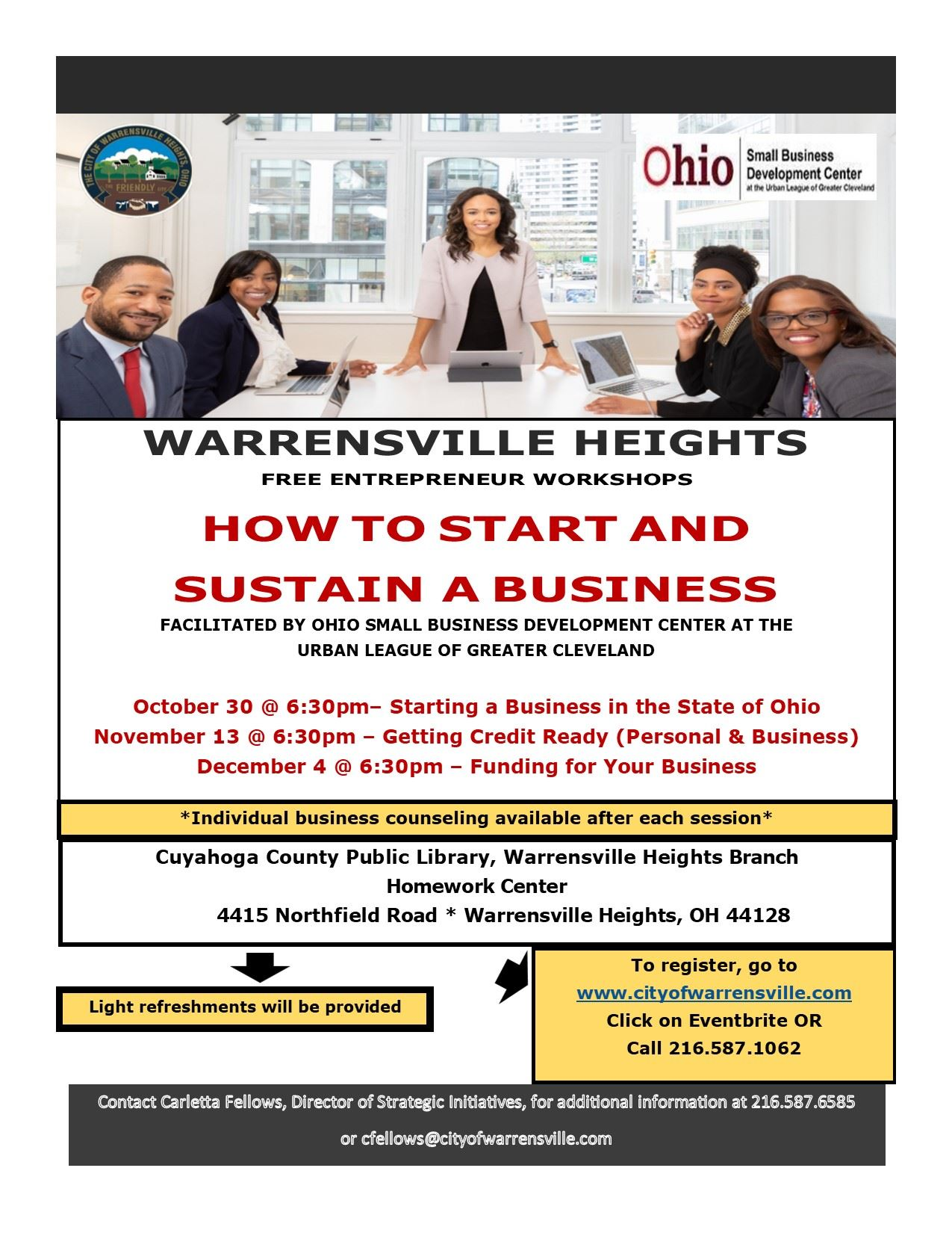 WH Entrepreneurial Workshop Flyer - Final
